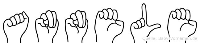 Annele im Fingeralphabet der Deutschen Gebärdensprache