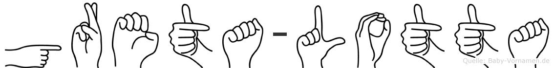 Greta-Lotta im Fingeralphabet der Deutschen Gebärdensprache