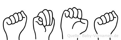 Amea in Fingersprache für Gehörlose