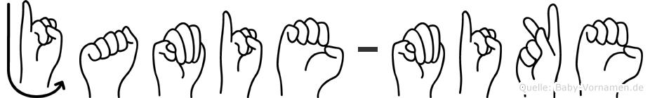 Jamie-Mike im Fingeralphabet der Deutschen Gebärdensprache