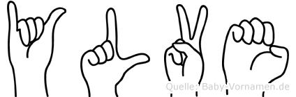 Ylve im Fingeralphabet der Deutschen Gebärdensprache
