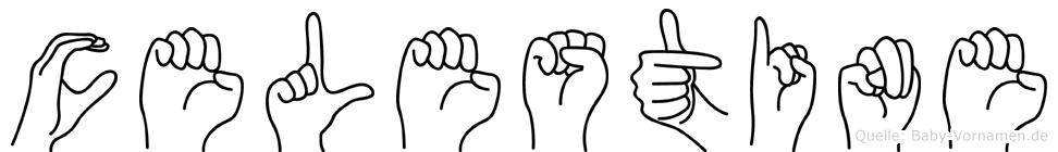 Celestine in Fingersprache für Gehörlose
