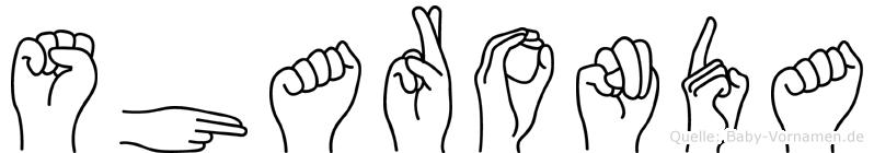 Sharonda im Fingeralphabet der Deutschen Gebärdensprache
