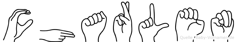 Charlen in Fingersprache für Gehörlose