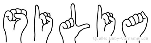 Silia in Fingersprache für Gehörlose