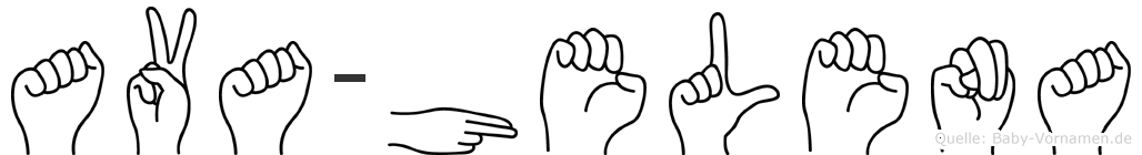 Ava-Helena im Fingeralphabet der Deutschen Gebärdensprache