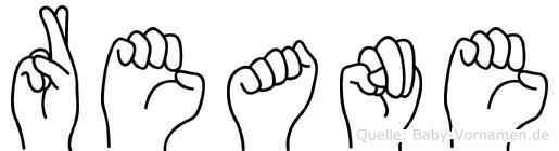 Reane im Fingeralphabet der Deutschen Gebärdensprache