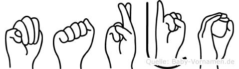 Marjo im Fingeralphabet der Deutschen Gebärdensprache