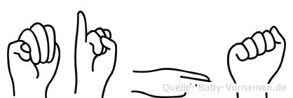 Miha in Fingersprache für Gehörlose