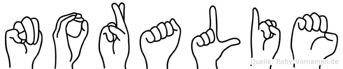 Noralie in Fingersprache für Gehörlose