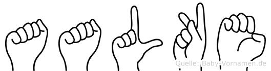 Aalke im Fingeralphabet der Deutschen Gebärdensprache