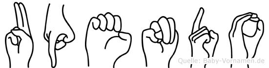 Upendo im Fingeralphabet der Deutschen Gebärdensprache