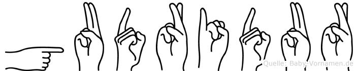 Gudridur in Fingersprache für Gehörlose