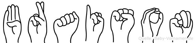 Braison in Fingersprache für Gehörlose