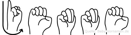 Jenne in Fingersprache für Gehörlose