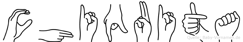 Chiquita im Fingeralphabet der Deutschen Gebärdensprache