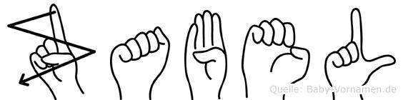 Zabel im Fingeralphabet der Deutschen Gebärdensprache