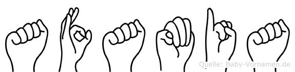 Afamia im Fingeralphabet der Deutschen Gebärdensprache