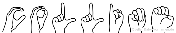 Colline im Fingeralphabet der Deutschen Gebärdensprache