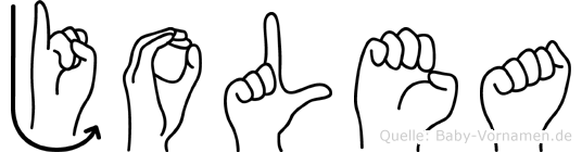 Jolea in Fingersprache für Gehörlose