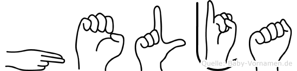 Helja in Fingersprache für Gehörlose
