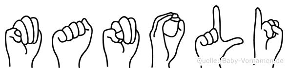 Manoli in Fingersprache für Gehörlose