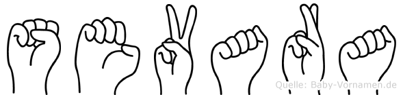 Sevara in Fingersprache für Gehörlose