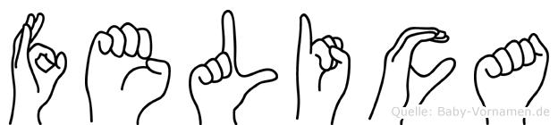 Felica im Fingeralphabet der Deutschen Gebärdensprache