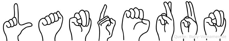 Landerun im Fingeralphabet der Deutschen Gebärdensprache