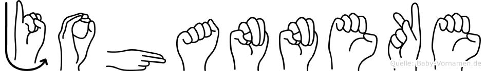 Johanneke im Fingeralphabet der Deutschen Gebärdensprache