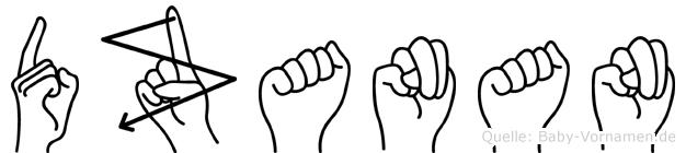 Dzanan in Fingersprache für Gehörlose