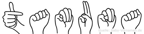 Tamuna in Fingersprache für Gehörlose
