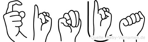 Xinja in Fingersprache für Gehörlose