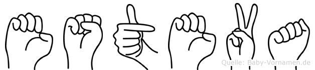 Esteva im Fingeralphabet der Deutschen Gebärdensprache
