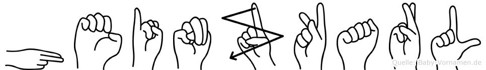 Heinzkarl im Fingeralphabet der Deutschen Gebärdensprache