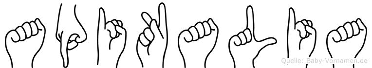Apikalia in Fingersprache für Gehörlose