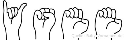 Ysee in Fingersprache für Gehörlose