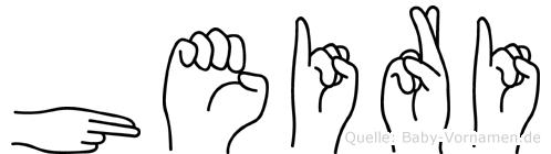 Heiri in Fingersprache für Gehörlose