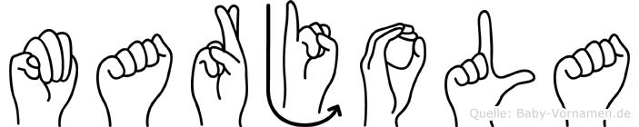 Marjola in Fingersprache für Gehörlose