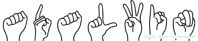 Adalwin in Fingersprache für Gehörlose
