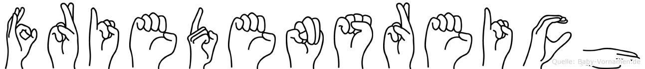 Friedensreich in Fingersprache für Gehörlose