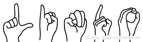 Lindo im Fingeralphabet der Deutschen Gebärdensprache