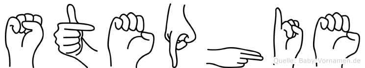 Stephie im Fingeralphabet der Deutschen Gebärdensprache