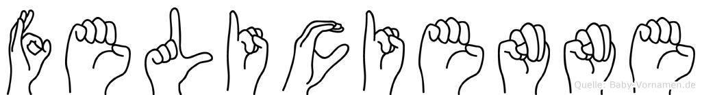 Felicienne in Fingersprache für Gehörlose