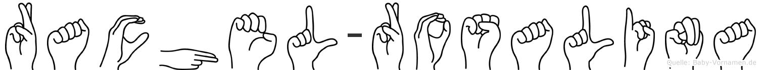 Rachel-Rosalina im Fingeralphabet der Deutschen Gebärdensprache