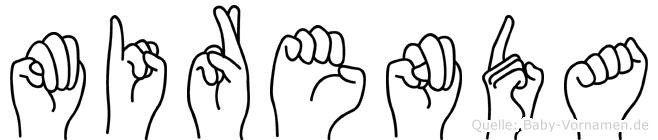 Mirenda im Fingeralphabet der Deutschen Gebärdensprache