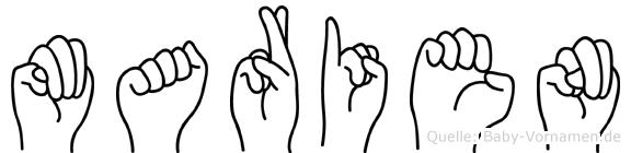 Marien in Fingersprache für Gehörlose