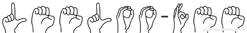 Leeloo-Fee im Fingeralphabet der Deutschen Gebärdensprache