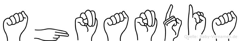 Ahnandia in Fingersprache für Gehörlose
