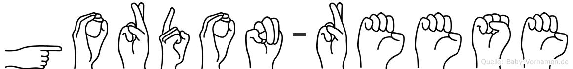 Gordon-Reese im Fingeralphabet der Deutschen Gebärdensprache